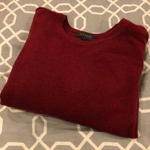 Great holiday sweater option, deep red, size L
